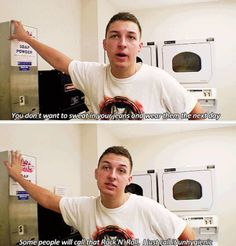 This cracks me up. Matt Helders from Arctic Monkeys.