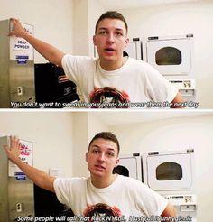 This cracks me up. Matt Helders from Arctic Monkeys.