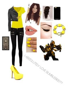"""Love Bumblebee."" by jadehope2000 ❤ liked on Polyvore featuring Polo Ralph Lauren, Glamorous, Paige Denim, Breckelle's, Sonix, Lulu*s, WigYouUp, Anna Bee and SAM"