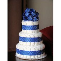 Just Diapers 3 Tier Baby Diaper Cake Baby Shower Gift Diaper Shower, Baby Shower Diapers, Baby Shower Fun, Baby Shower Cakes, Baby Shower Parties, Baby Shower Themes, Baby Shower Decorations, Baby Shower Gifts, Baby Gifts