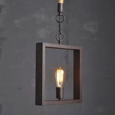 Description: Brand: CY Vintage Lighting Fixture Product: Square Pendant Lamp Year: 2015 Condition: New Use: Functional, Decoration, Cosplay, Fantasy Material: Cast iron jute rope Size: inches wide, inches high Weight approx. Vintage Light Fixtures, Vintage Lighting, Pendant Lamp, Pendant Lighting, Light Pendant, Lampe Metal, Industrial Ceiling Lights, Wooden Lamp, Ceiling Lamp