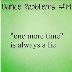Biggest lie ever to be told in the history of dance!