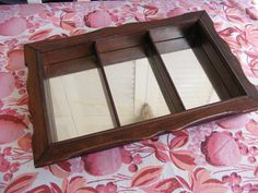 Vintage Wooden Curio Shelf with Mirror Backing Display-Have & Love!