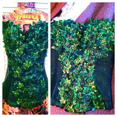 Poison Ivy diy costume..idea not necessarily this top