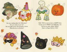 """ici c'est une collection de masques (accompagnés d'une poupée sur une autre planche) qui feront de jolis embellissements pour vos pages d'Halloween, mais aussi de carnavals, de Mardi-Gras ou de toute autre occasion de se déguiser !... ils seront aussi parfaits à utiliser sur vos photos, pour """"dissimuler"""" les visages... """"petit plus"""" : faites de petites encoches aux emplacements des """"pattes"""" de maintien, pour pouvoir ôter et replacer les masques (ou les vêtements !) sur vos photos !"""