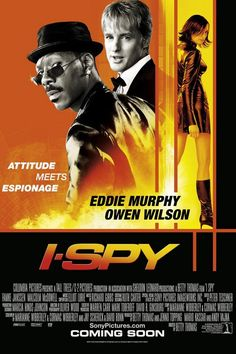 I Spy, 2002 - Directed by Betty Thomas. With Eddie Murphy, Owen Wilson, Famke Janssen, Malcolm McDowell. A professional athlete has to help a U. government agent recover a missing jet. Owen Wilson, Scott Wilson, Top Movies, Comedy Movies, Movies And Tv Shows, Watch Movies, Internet Movies, Movies Online, Famke Janssen