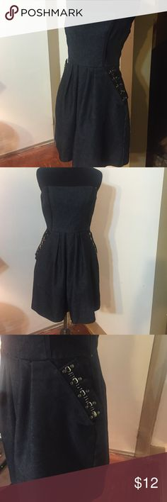 Denim dress Cute little denim dress , never worn venus Dresses Strapless