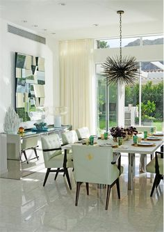 Open Contemporary Dining Room by Emily Summers