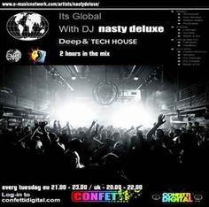 Dj Nasty deluxe - It's Global - Confetti Digital - Uk / London - 27. 10. 2015