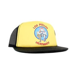 Commemorate your favorite cult classic with an awesome Breaking Bad Los Pollos Hermanos Yellow Adjustable Cap Hat . Free shipping on Breaking Bad orders over $50.