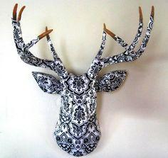 Paper resin deer heads