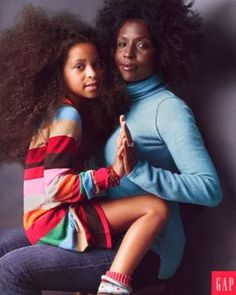 Ad for The Gap featuring artist Lorna Simpson & daughter Zora.  Did I mention I heart her? Her work is thought-provoking and inspiring.
