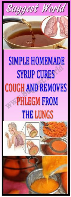 Simple Homemade Syrup Cures Cough And Removes Phlegm From The Lungs #health #fitness #cough #remedy #beauty