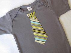 Tie onesie, how cute!