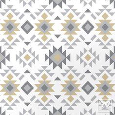 Tribal Aztec Print Pattern Removable Wallpaper DIY Decor | Wallternatives