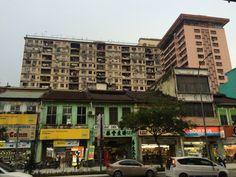 Om oud way to the monorail station Chow Kit, Kuala Lumpur, Malaysia.