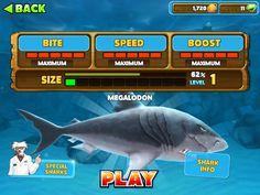 I've unlocked the megalodon on hungry shark evolution