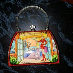 """Debbie Brooks  """"Le Chic Jewelry"""" The fabric is red faux croc.  Petite Sassy style. It was only used a few times...most of the time, it sat in a display in my house. Debbie Brooks Bags"""