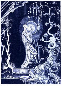 Kay Nielsen ~ Aladdin ~He Took the Lighted Lamp from the Niche