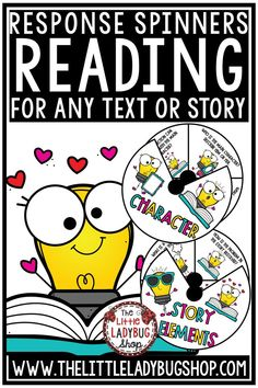 You will love using this Reading Response Activity Spinner - perfect for use in Book Clubs and Literature Circles. It is a great way to have students to respond to their reading in a fun and accountable way. These reading responses are perfect for students in 2nd grade, 3rd grade, 4th grade and homeschool classrooms. #accountablereading #readingresponseactivities #literaturecircleactivities #readingactivities #bookclubactivities