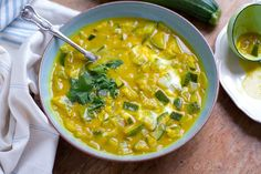 Turmeric Zucchini Soup (Dairy-Free, Paleo, Vegan Friendly)