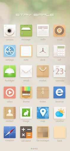 #Simple #App #Icon #Design |  #ui #ux #mobile #web #icons #inspiration #flat #minimal