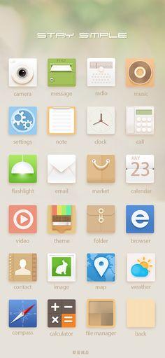 #Simple #App #Icon #Design |  #ui #ux #mobile #web #icons #inspiration #flat #minimal