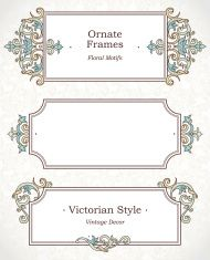 Vector set of decorative frames in Victorian style. vector art illustration