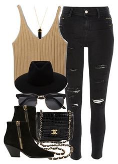 """Style  #10751"" by vany-alvarado ❤ liked on Polyvore featuring River Island, rag & bone, Giuseppe Zanotti and Chanel"