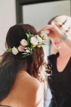 Bridal Flower Crown. Photo by Brown Butter Photography. Flowers by Blum