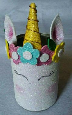Kids Crafts, Tin Can Crafts, Animal Crafts For Kids, Foam Crafts, Summer Crafts, Art For Kids, Diy And Crafts, Unicorn Birthday Parties, Unicorn Party