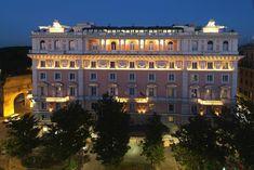 Very Impressive Grand Hotel Flora Rome Marriott - Vagablond Monte Carlo, Monaco, Flora, Pink Hotel, Century Hotel, Greece Honeymoon, Hotels, Travel Memories, Grand Hotel