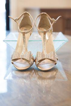 Embellished wedding heels