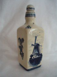 Delft Dutch Holland Perfume pottery jar windmill 1930