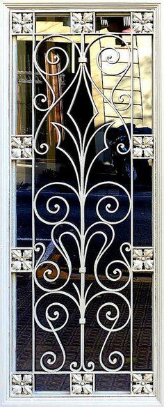 Barcelona - Diputació 260 e Wooden Main Door Design, Door Gate Design, Railing Design, House Window Design, Iron Windows, Window Grill Design, Metal Workshop, Wrought Iron Doors, Iron Decor