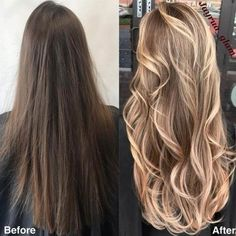 Are you going to balayage hair for the first time and know nothing about this technique? We've gathered everything you need to know about balayage, check! Gold Brown Hair, Brown Blonde Hair, Brunette Hair, Brown To Blonde Hair Before And After, Brunette Color, Haircuts For Long Hair, Summer Hairstyles, Wavy Hairstyles, Summer Haircuts