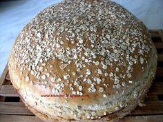 Zabpelyhes-fehér kenyér   Bibimoni Receptjei Hamburger, Paleo, Bread, Baking, Food, Brot, Bakken, Essen, Beach Wrap
