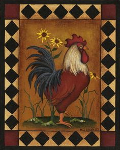 Night Light - Red Rooster - Kitchen Night Light - Country Style