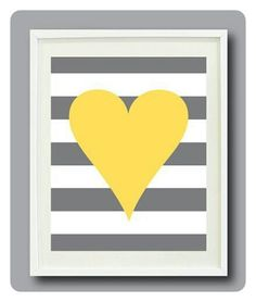 Heart & Stripe Cross Stitched picture can be by CattnKaboodle, £30.00