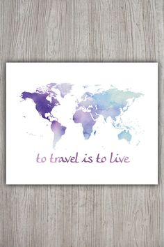 Décor de voyage le monde de l'Art carte monde par PRINTANDPROUD