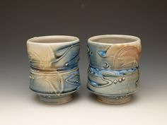 Ann Chambers - lovely cups click the image or link for more info. Ceramic Decor, Ceramic Bowls, Ceramic Art, Pottery Mugs, Ceramic Pottery, Pottery Ideas, Thrown Pottery, Slab Pottery, Modern Ceramics