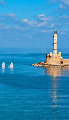 The lighthouse - Chania Old Venetian Harbor #TheHotelgr