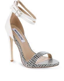 Madison York High Heel Sandal White/Black