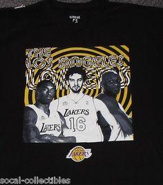 New Lakers Unk Black Shirt 2XL Kobe Bryant Lamar Odom Pau Gasol XXL T-Shirt