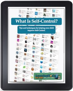 Strategies to improve self control.