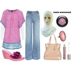 """Pink Sunday"" by jamericanmuslimah on Polyvore"