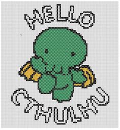Hello Cthulhu Cross Stitch Pattern