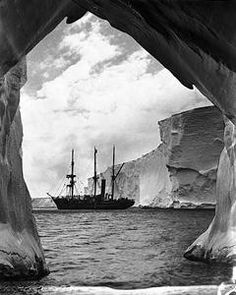 The ship Aurora that left Mawson in Antarctica for another winter.