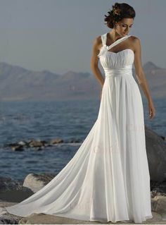 2011 hotsale Inexpensive white a line chiffon wedding dresses south africas - R.1,525.66 : Craibox.co.za