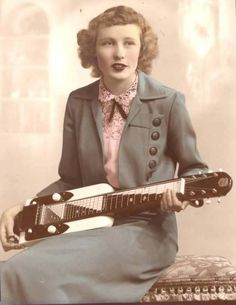 : rock and roll Dear whitetrashjetsetter, could you not remove the credits from your rebogs? Thanks… This is: Ginny Wright and her National lap steel. Guitar Girl, Music Guitar, Cool Guitar, Lap Steel Guitar, Guitar Photos, Slide Guitar, Play That Funky Music, Cultura General, Music Images